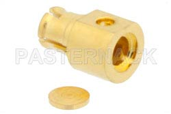 SMP Female Right Angle Connector Solder Attachment For PE-047SR, PE-SR047AL, PE-SR047FL, Up To 8 GHz(图2)