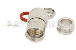 75 Ohm N Male Connector Clamp/Solder Attachment for RG11, RG144, RG216(图2)