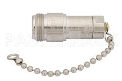 75 Ohm 0.5 Watts Nickel Plated Brass N Female RF Load With Chain Up To 1,000 MHz(图2)