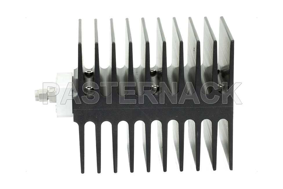Medium Power 50 Watts RF Load Up To 4 GHz With SMA Male Input Square Body Black Anodized Aluminum Heatsink(图2)