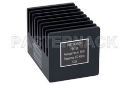 50 Watt RF Load Up to 4 GHz With N Male Input Square Body Black Anodized Aluminum Heatsink(图2)