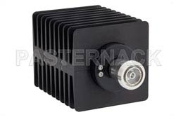 20 dB Fixed Attenuator, 7/16 DIN Male To 7/16 DIN Female Directional Black Anodized Aluminum Heatsink Body Rated To 100 Watts Up To 1.5 GHz(图2)