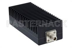 6 dB Fixed Attenuator, N Male to N Female Black Anodized Aluminum Heatsink Body Rated to 100 Watts Up to 3 GHz(图2)
