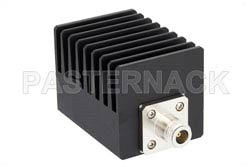 6 dB Fixed Attenuator, N Male To N Female Black Anodized Aluminum Heatsink Body Rated To 50 Watts Up To 4 GHz(图2)