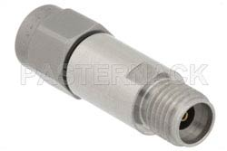 2 dB Fixed Attenuator, 2.92mm Male to 2.92mm Female Passivated Stainless Steel Body Rated to 2 Watts Up to 40 GHz(图2)